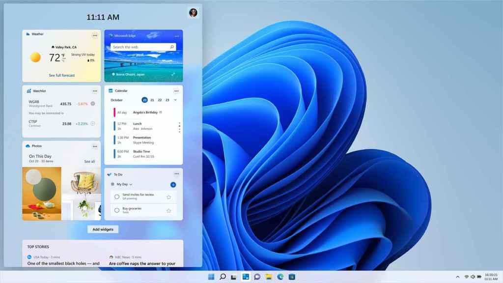 Widgets en Windows 11