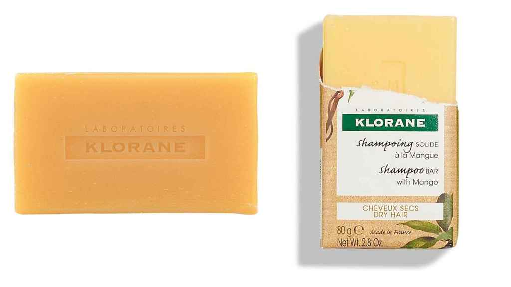 Mango's solid shampoo is detangling and hydrating.