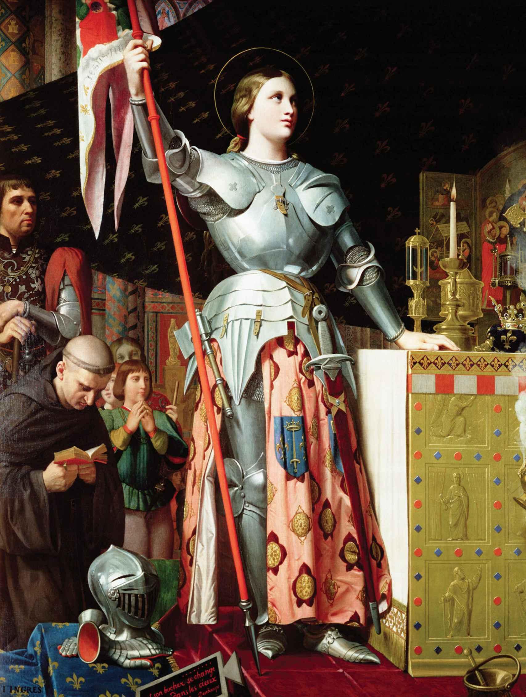 'Juana de Arco en la coronación de Carlos VII', por Jean-Auguste-Dominique Ingres.
