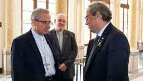 Planellas junto a Quim Torra, cuando el último aún era president de la Generalitat.