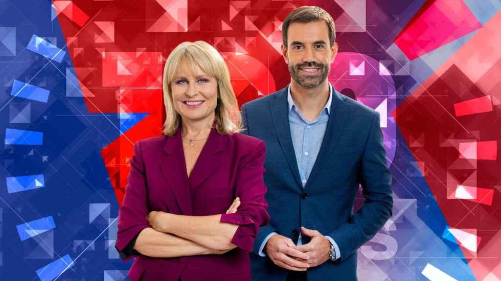 María Rey y Miguel Ondarreta presentan '120 minutos' en Telemadrid.