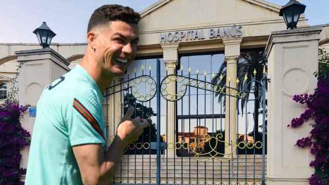 Cristiano Ronaldo en un montaje de Jaleos.