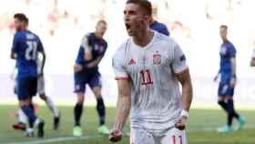 Ferrán Torres celebra su gol frente a Eslovaquia