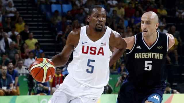 Kevin Durant, con la camiseta de Estados Unidos