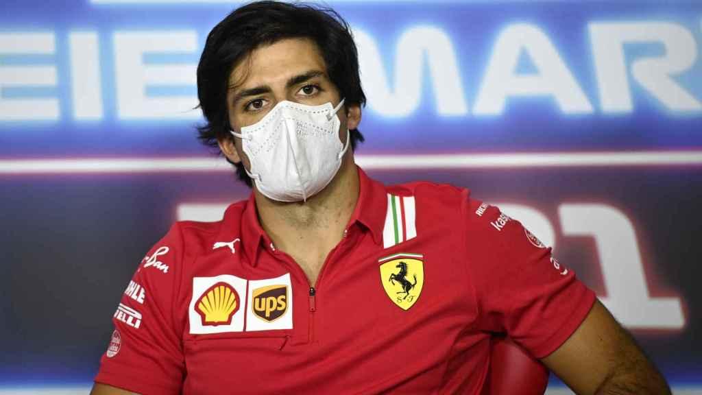 Carlos Sainz en la rueda de prensa del Gran Premio de Estiria