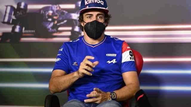 Fernando Alonso en la rueda de prensa del Gran Premio de Estiria