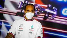 Lewis Hamilton, durante una rueda de prensa