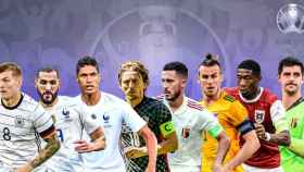 Toni Kroos, Karim Benzema, Raphael Varane, Luka Modric, Eden Hazard, Gareth Bale, David Alaba y Thibaut Courtois