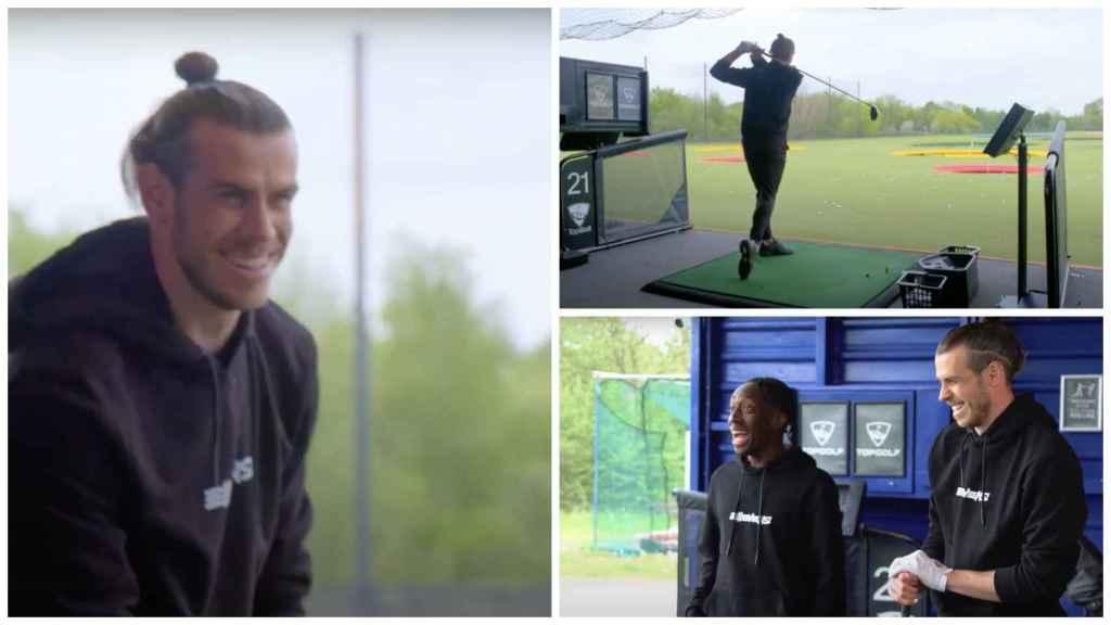 Bale jugando al golf
