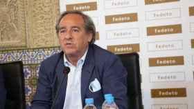 Ángel Nicolás durante su discurso