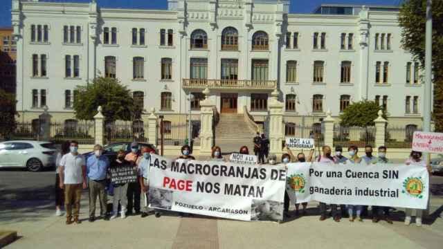 Prostesta contra la ganadería industrial en Albacete.