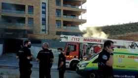Un coche ha ardido este jueves en un garaje de la Legua, en Toledo. Foto: María de Tena