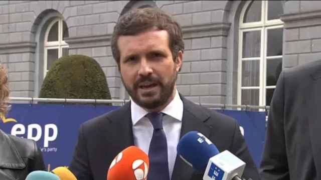Casado, desde Bruselas: La propaganda de Sánchez no cuela aquí