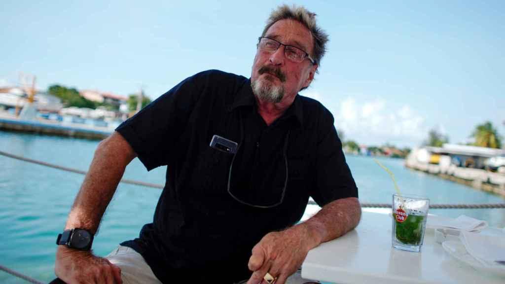 El empresario John McAfee