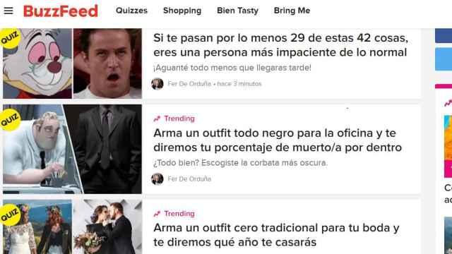 Portada del principal en español del grupo Buzzfeed.