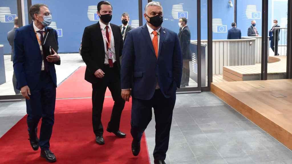 El primer ministro húngaro, Viktor Orbán, a su llegada a la cumbre de la UE este jueves