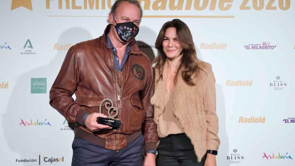 Bertín Osborne y Fabiola Martínez en los premios Radiolé 2020.
