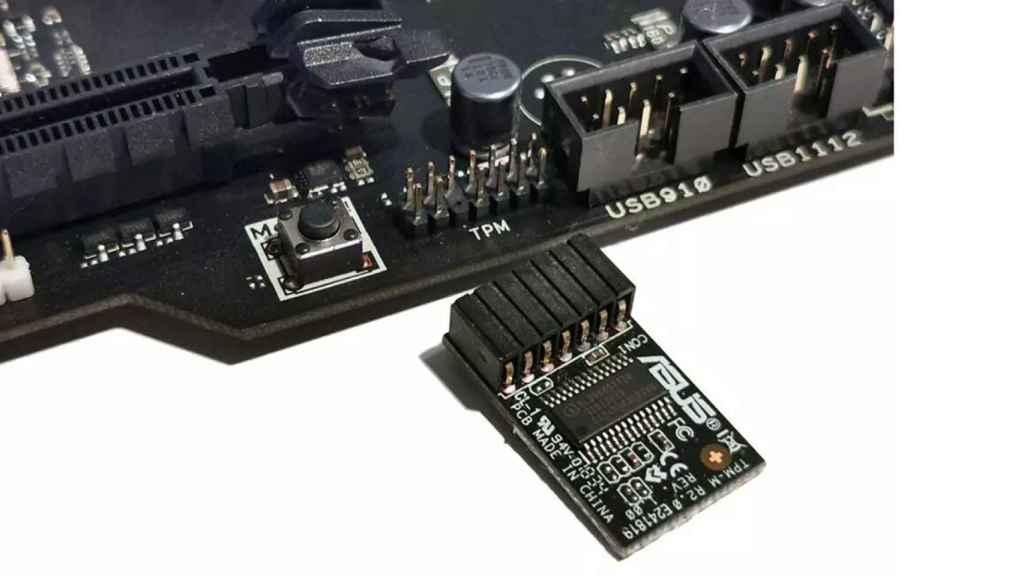 Chip TPM en una ranura TPM