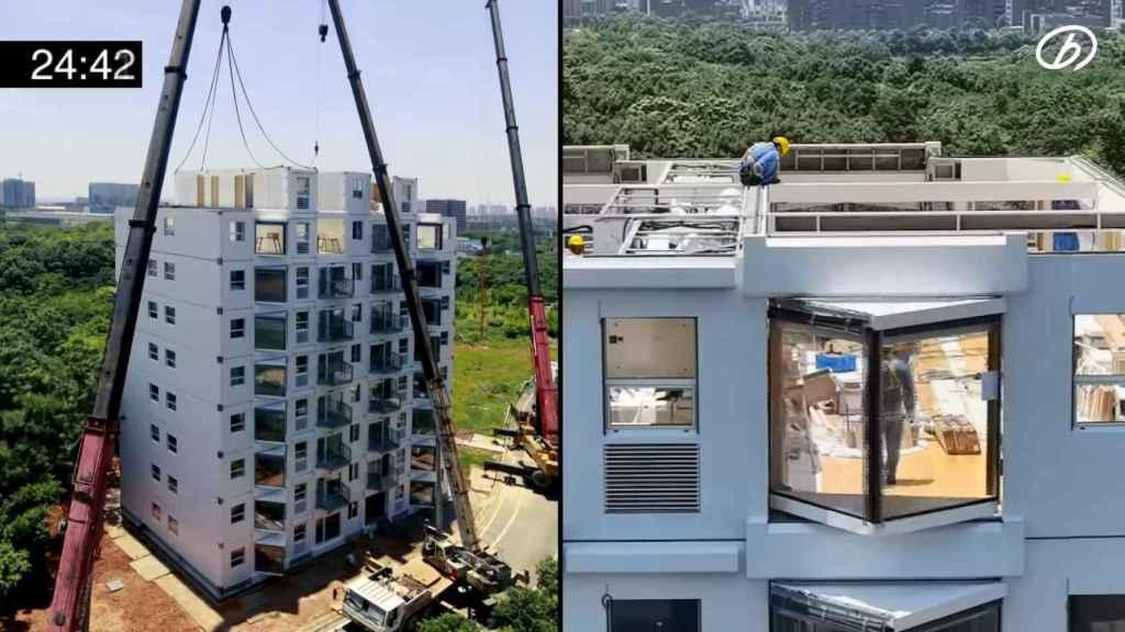 Construcción edificio en 28 horas