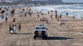 La playa de la Malvarrosa en Valencia.