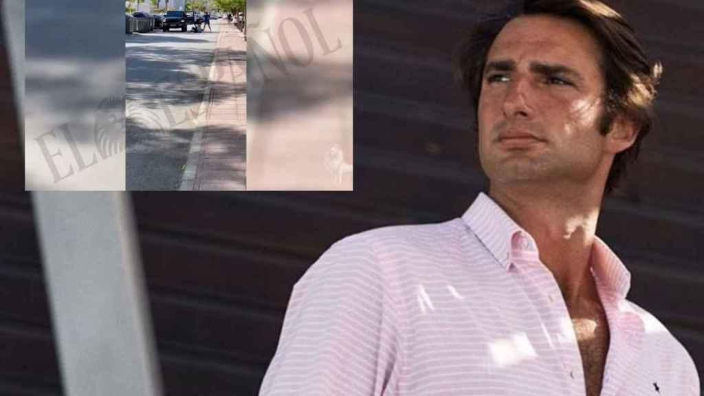 Javier Calle en montaje de JALEOS junto al vídeo del momento de la agresión.