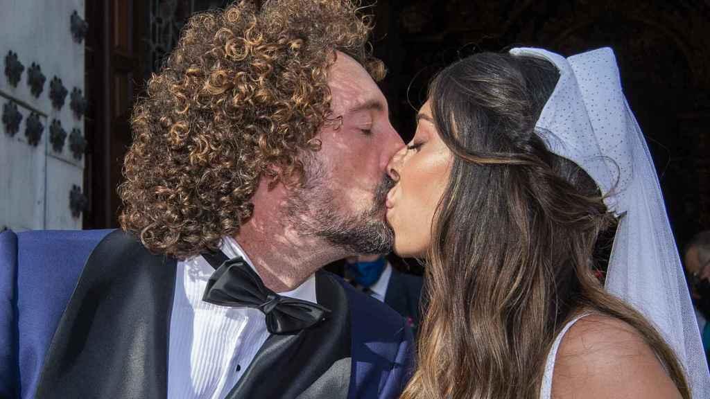 José Antonio León y Rocío Madrid, el día de su boda.