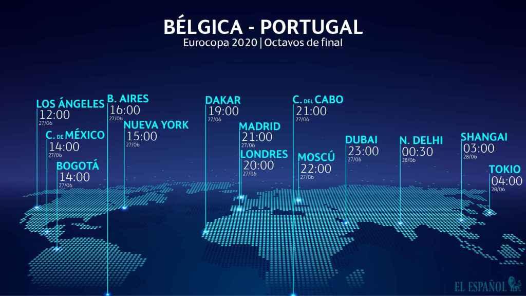 Horario internacional del Bélgica - Portugal