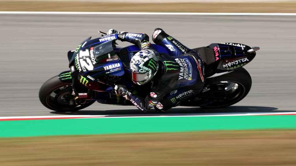 Maverick Viñales, con su Yamaha
