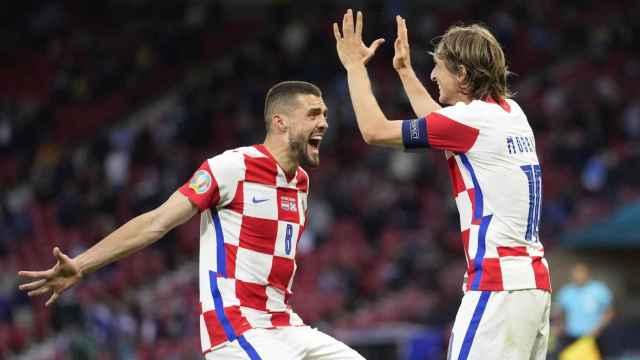 Kovacic celebra con Modric