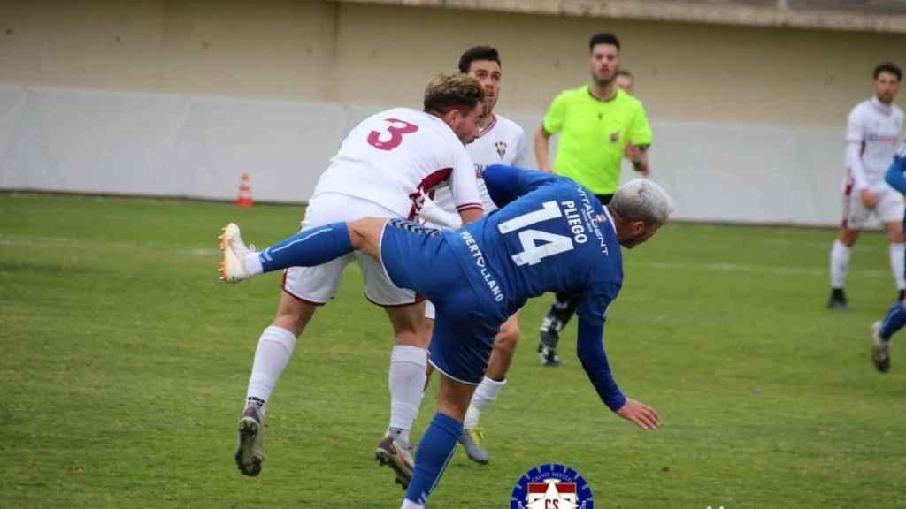 Cortijo en un partido contra el Calvo Sotelo. Foto: CS Puertollano