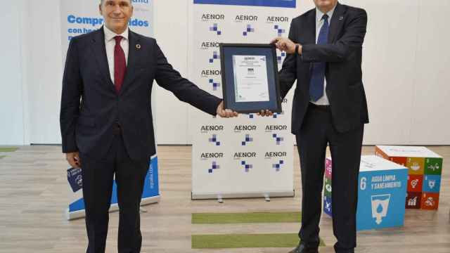 Rafael García Meiro, CEO de Aenor y Félix Parra, CEO de Aqualia