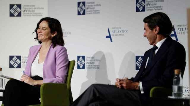 Aznar y Ayuso, este viernes en Madrid.