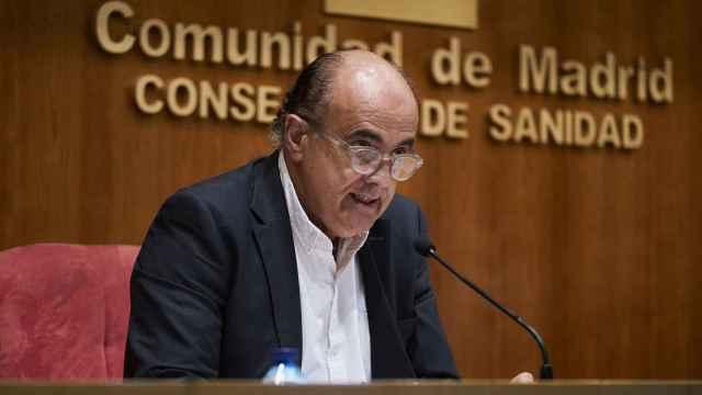 Antonio Zapatero en rueda de prensa.