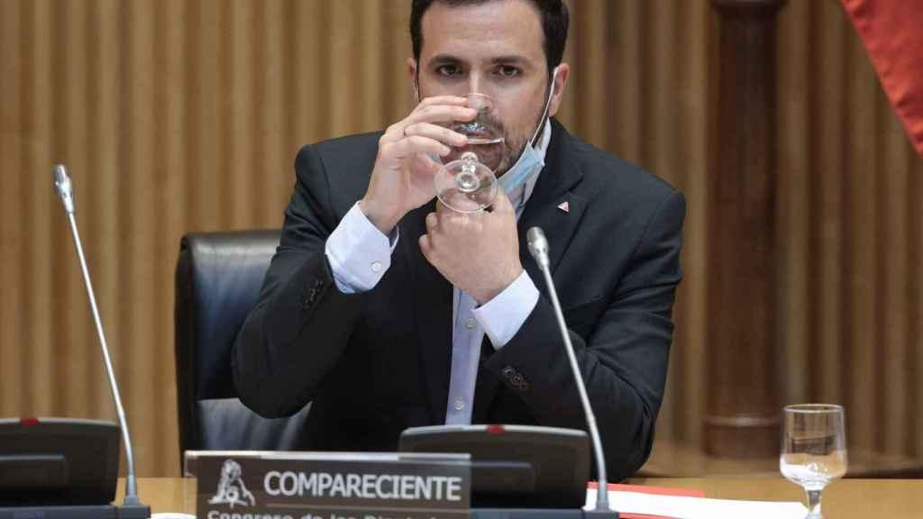 Alberto Garzón, ministro de Consumo, en el Congreso.