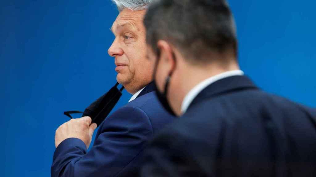 El primer ministro húngaro, Viktor Orbán, no ha hablado con la prensa tras el Consejo Europeo