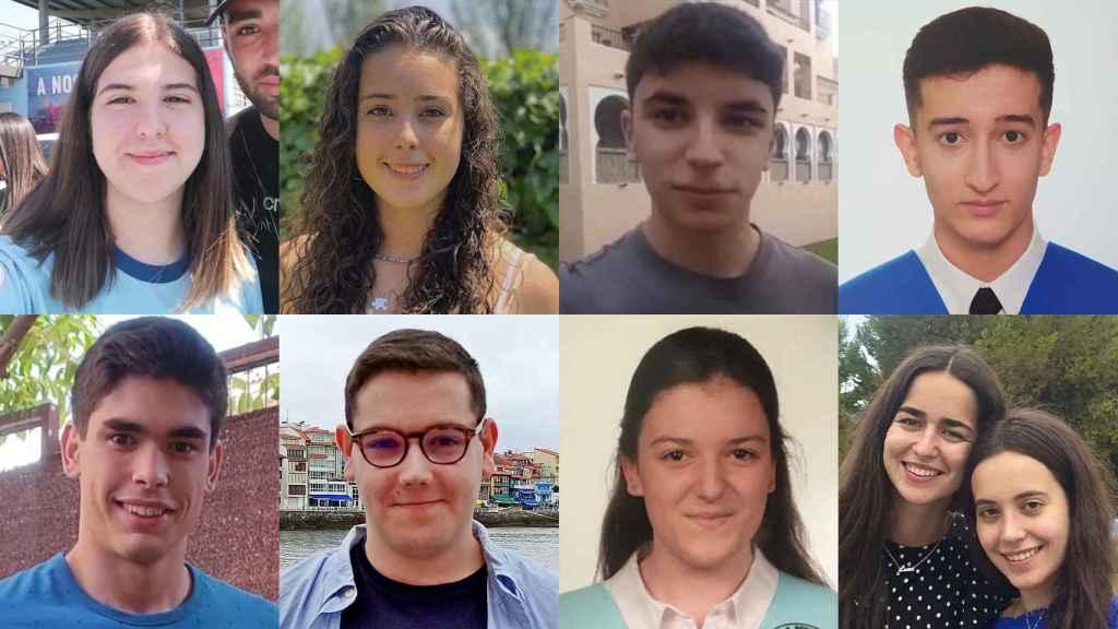 Los estudiante españoles con mejores calificaciones en la Selectividad 2021.