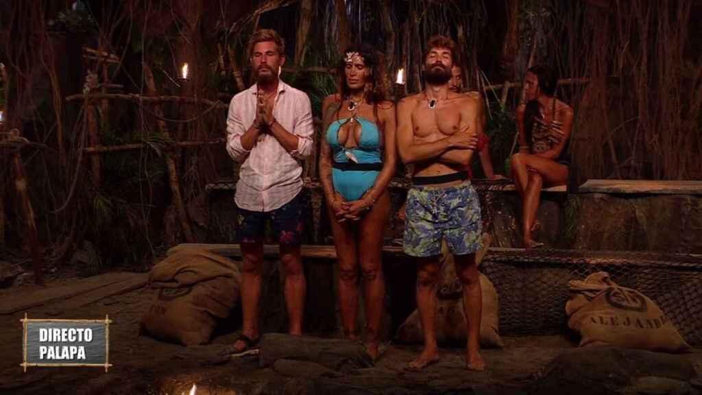 Tom, Lara y Alejandro Albalá en 'Supervivientes 2021'