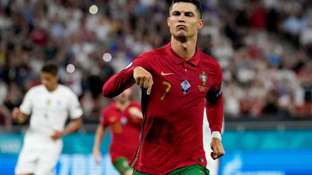 Cristiano Ronaldo celebra un gol en la Eurocopa