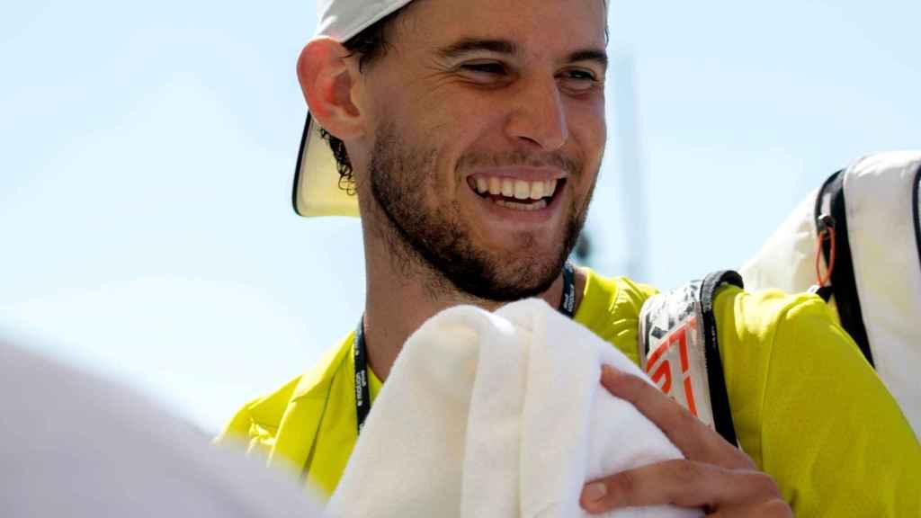 Dominic Thiem después de un entrenamiento