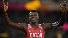 Abdalelah Haroun, durante el Mundial de Atletismo de 2017