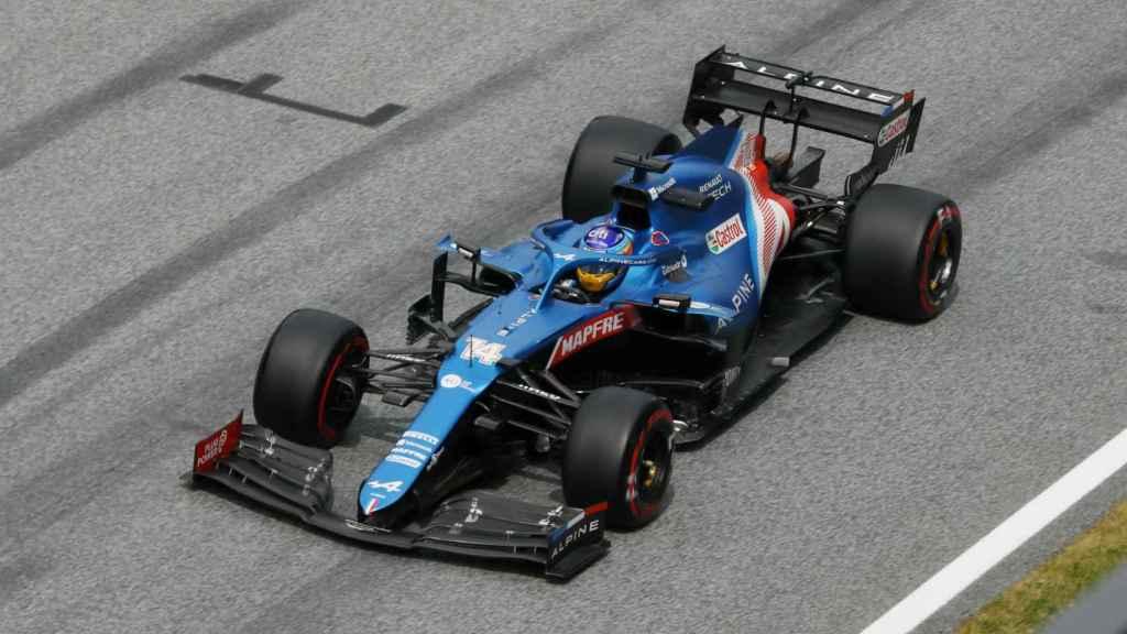 Fernando Alonso, durante el Gran Premio de Estiria de F1 en 2021