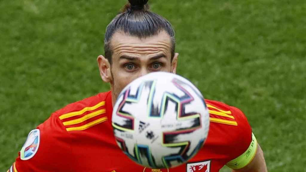 Gareth Bale, en un partido de la selección de Gales en la Eurocopa 2020