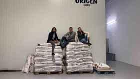 Los responsables de la empresa Origen Farms de La Roda.
