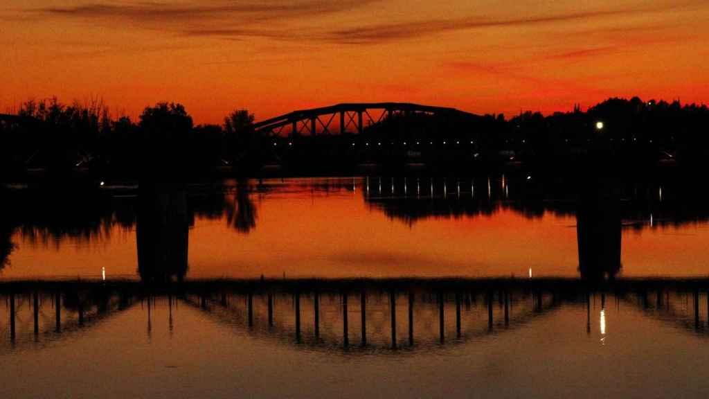 Puente de Talavera sobre el río Tajo, uno de los sitios donde se miden los caudales ecológicos.