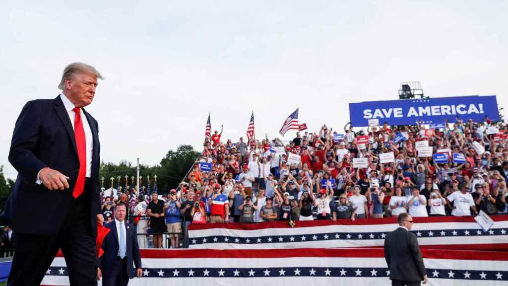 Donald Trump, este sábado en Ohio.