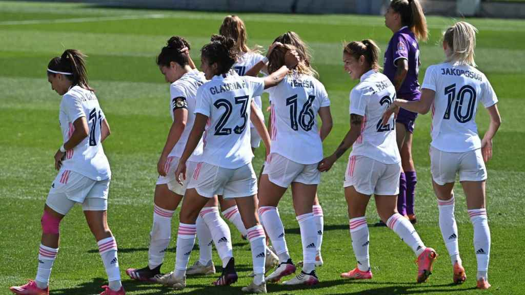 El Real Madrid Femenino celebra un gol
