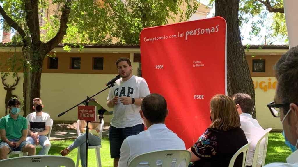 Nacho Hernando, este domingo en Sacedón (Guadalajara)
