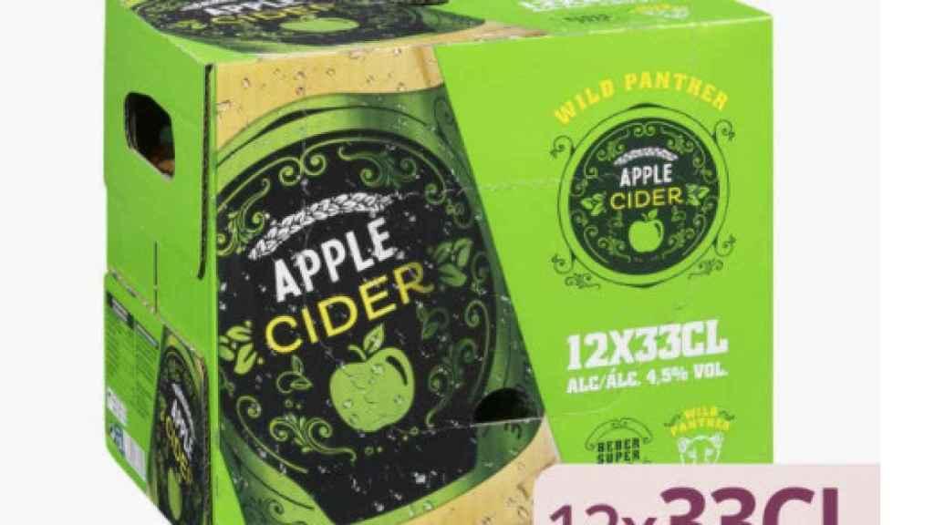 El pack de 12 cider de manzana.