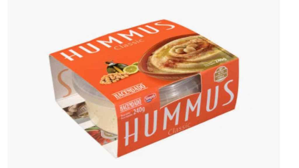 La tarrina de hummus de Hacendado.