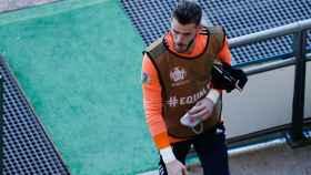 David De Gea, durante el entrenamiento de España en Dinamarca antes de los octavos de final de la Eurocopa